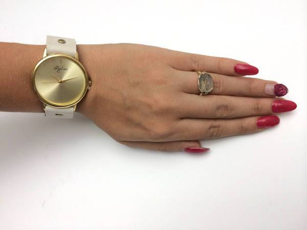 minimalist leather watch for women