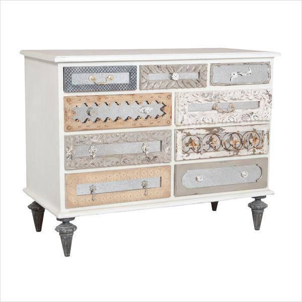 mirror mosaic dresser white