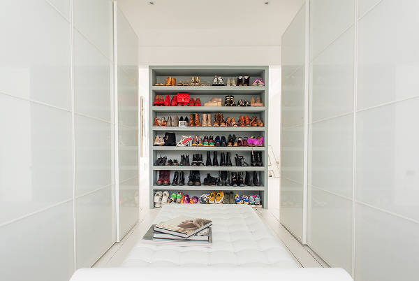 modern closet shoe storage