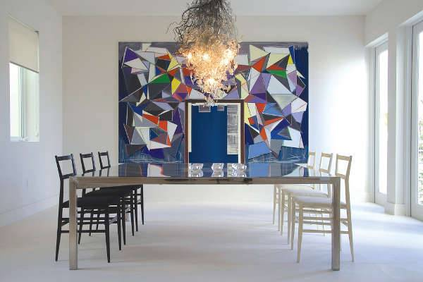 modern colorful dining room chandeliers
