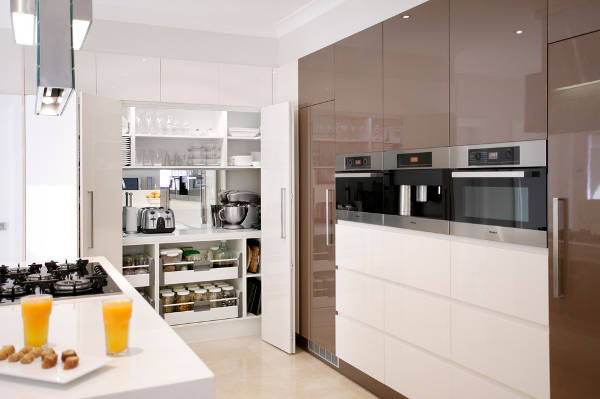 modern contemporary pantry cabinets