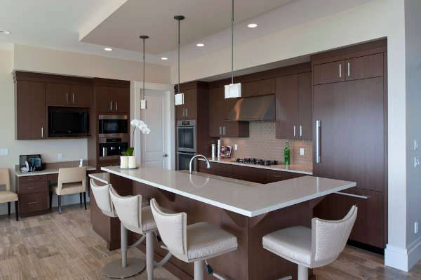 modern dark kitchen cabinets