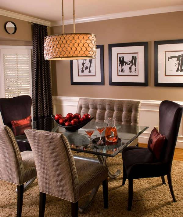 Modern Dining Room Drum Chandelier