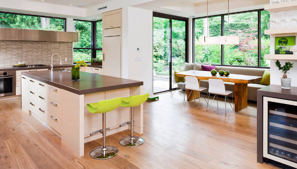 modern kitchen breakfast nook
