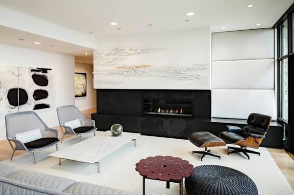 Modern Living Room 3D Wall Design