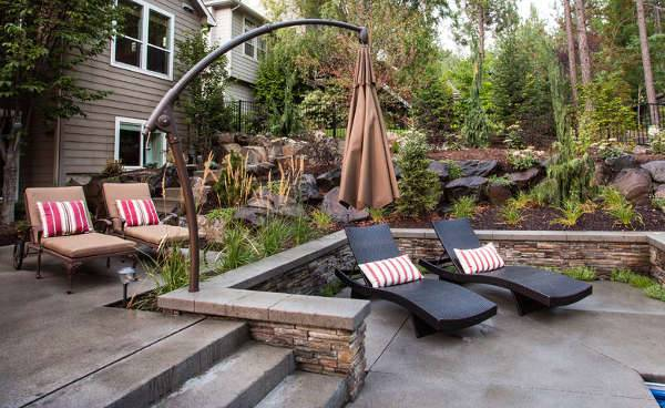 Modern Outdoor Black Chaise Lounge