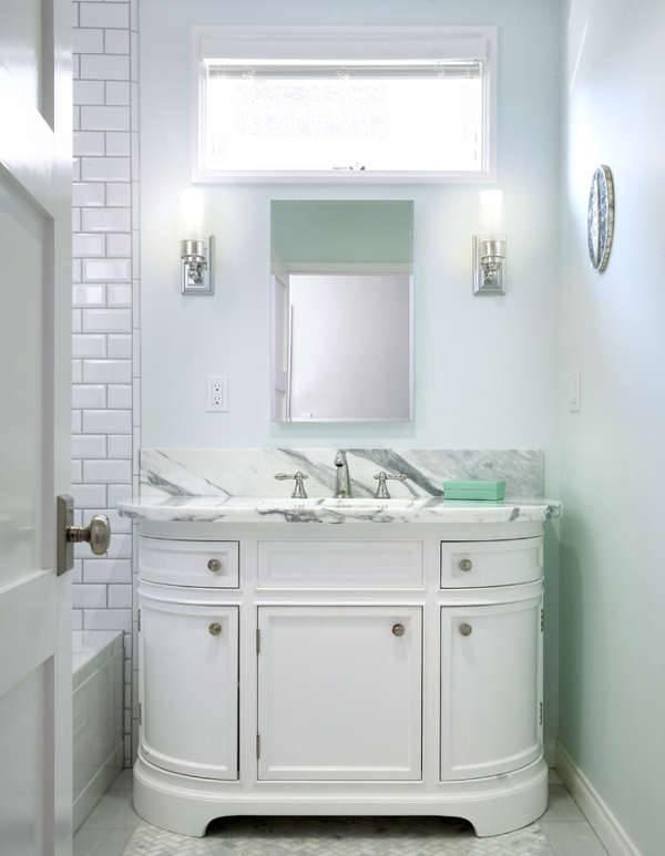 Modern Small White Vanity