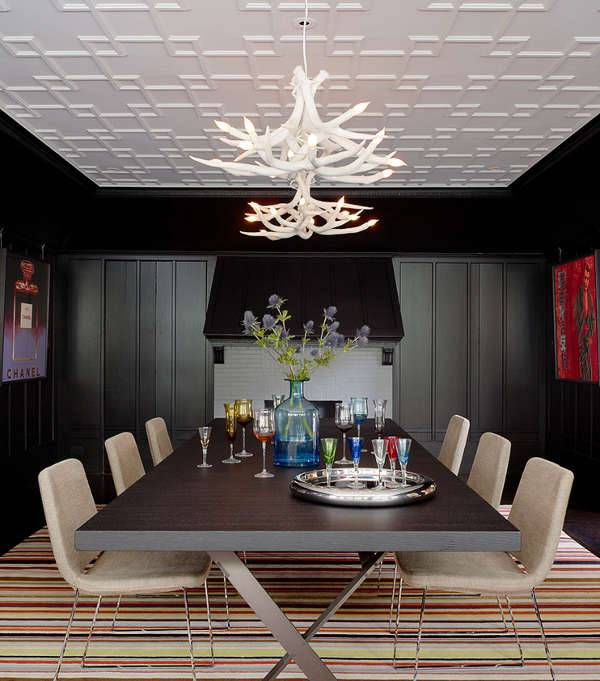 modern white antler chandeliers