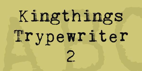 monospaced typewriter font download