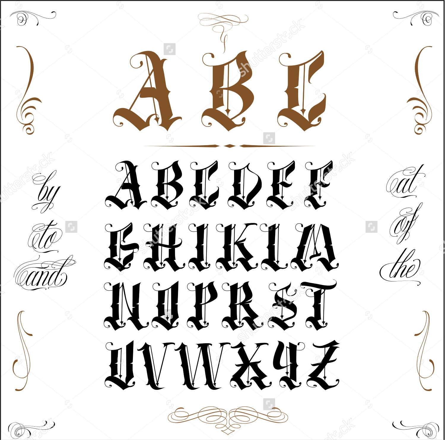 Awesome Old English Tattoo Lettering Font