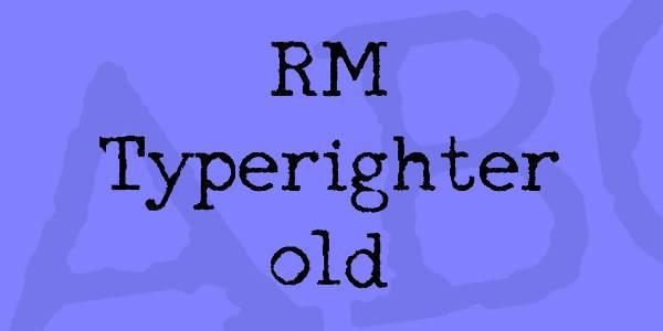 old typewriter text font