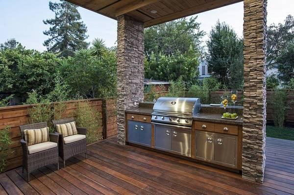 outdoor kitchen simple idea