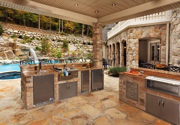 Outdoor Pool Kitchen Design