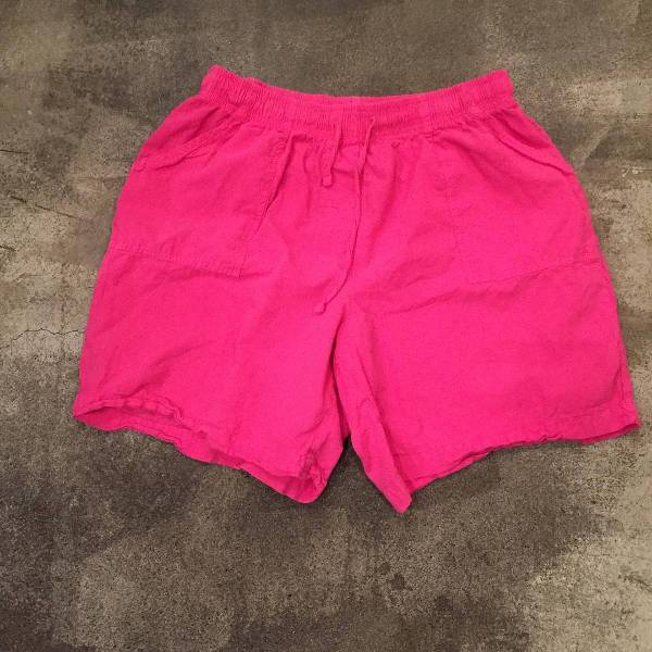 Pink Cotton Short for Women