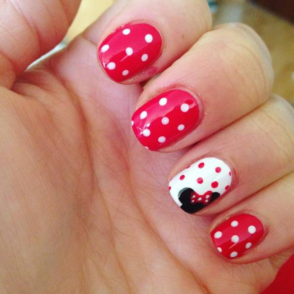 14 Minnie Mouse Nail Art Designs Ideas Design Trends Premium PSD Vector Downloads