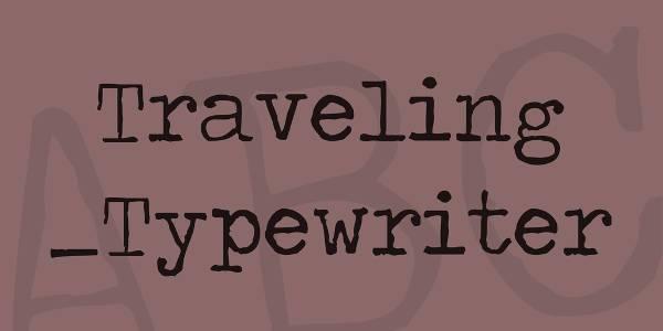regular typewriter script font