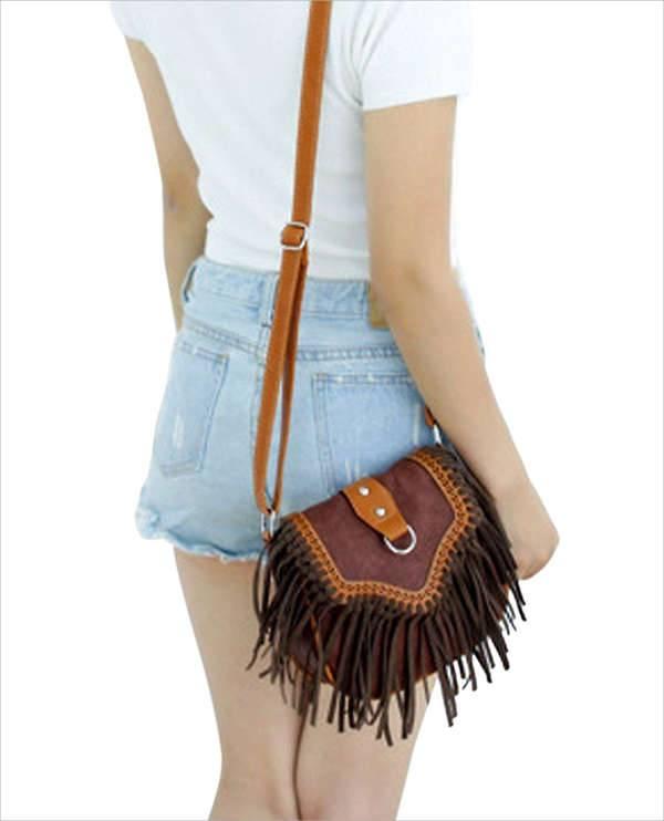 retro vintage fringe handbag