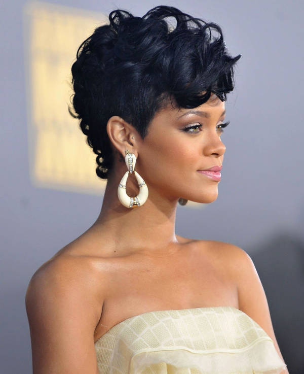 rihanna curly mohawk hairstyle