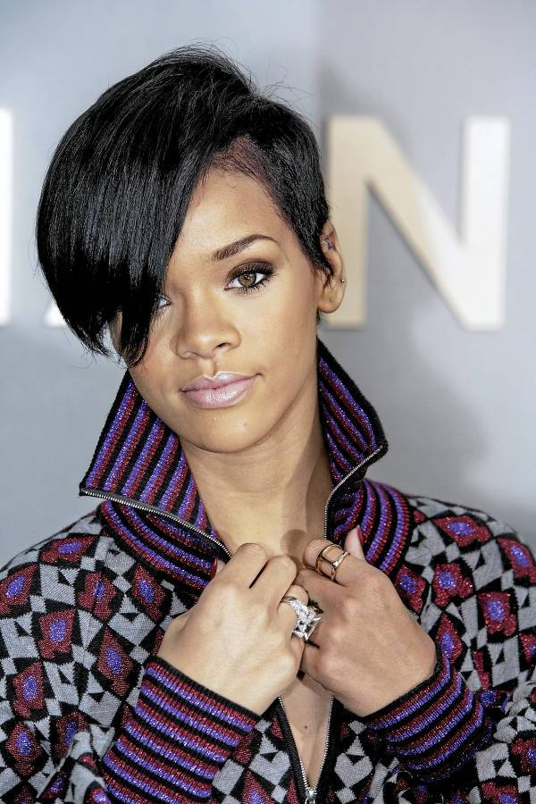 Rihanna Short Weave Hairstyles For Black Women