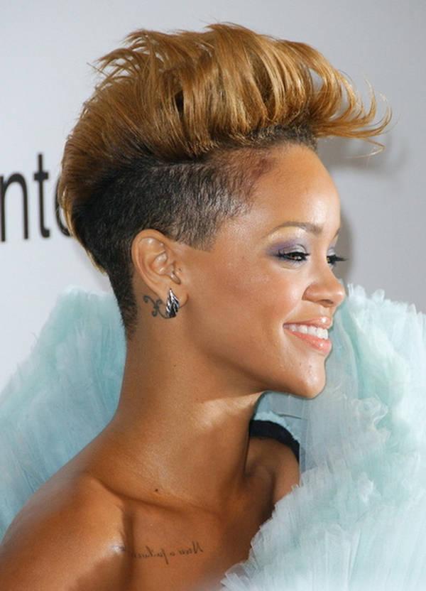Rihanna Women's Short Mohawk Haircut