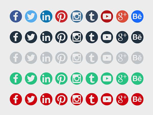 10  social media icons - psd  vector eps format download