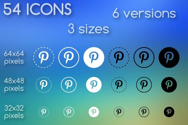 Round and Outline Social Media Icons