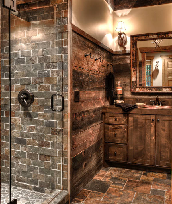 rustic bathroom tiles