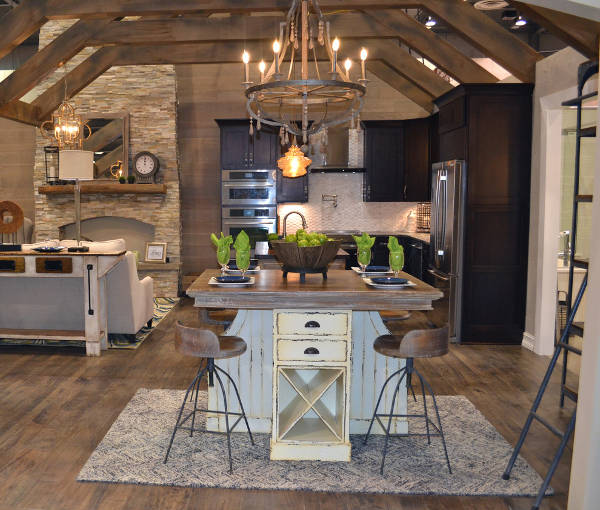 rustic kitchen design idea