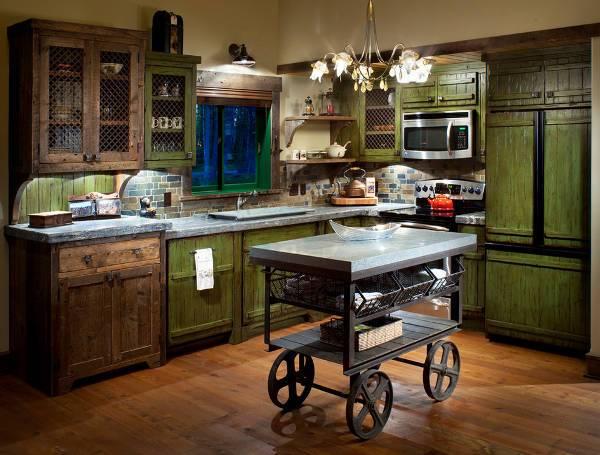 Rustic Kitchen Serving Cart