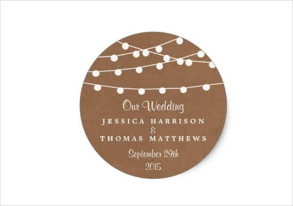 Rustic Wedding Stickers