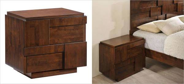 san diego night stand walnut rubberwood
