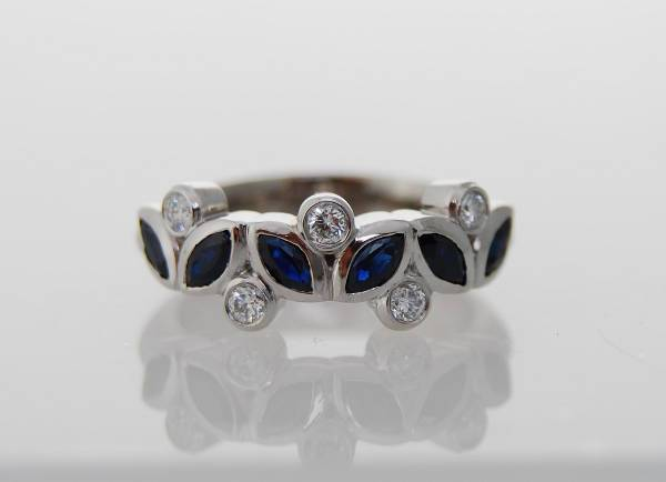 sapphire marquise diamond ring