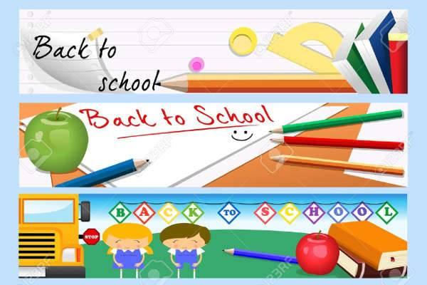 school banner design