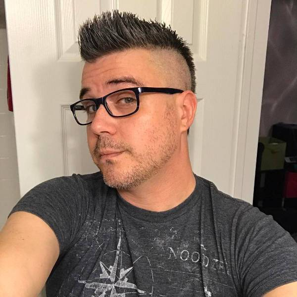 semi mohawk haircut