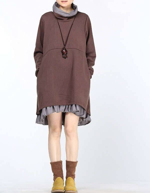 short winter hem dress