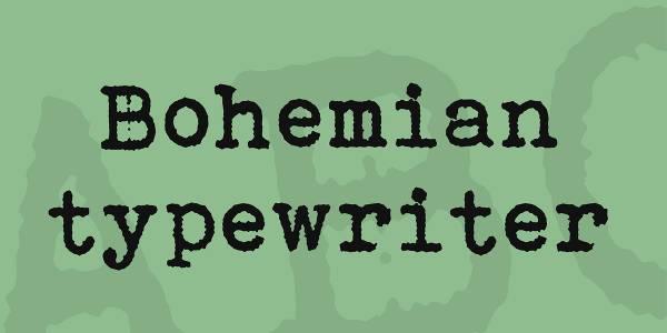 simple bohemian typewriter font