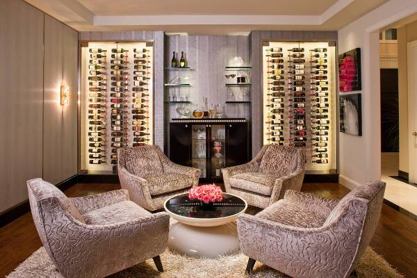 Simple Contemporary Wine Cellar Idea