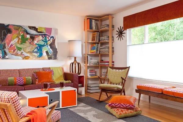 simple corner bookcase design