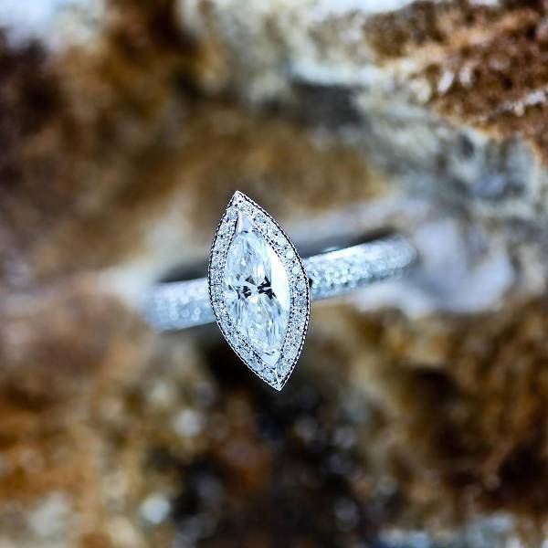 simple marquise diamond ring