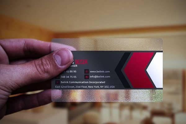 Simple Transparent Plastic Business Card