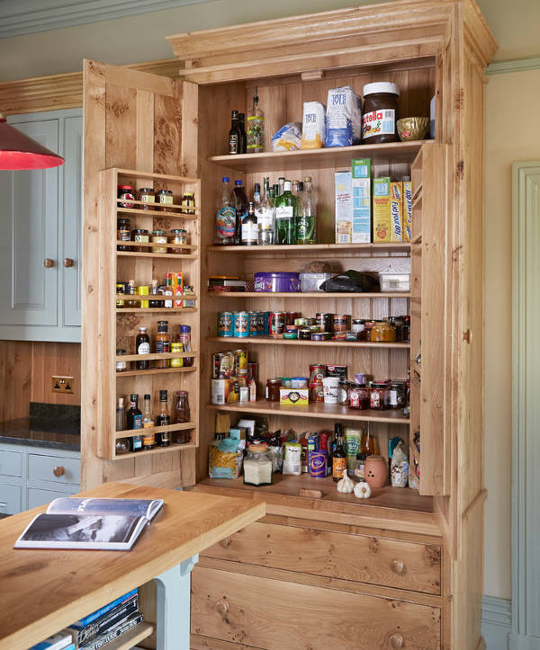 small oak pantry cabinets