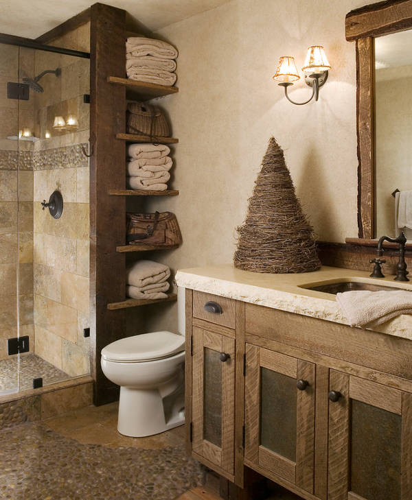small rustic bathroom design