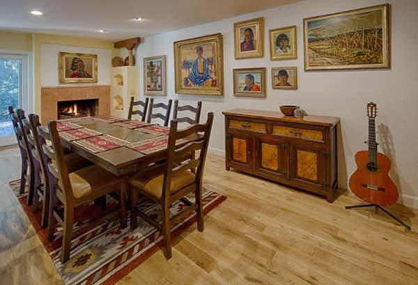 southwestern masculine dining room