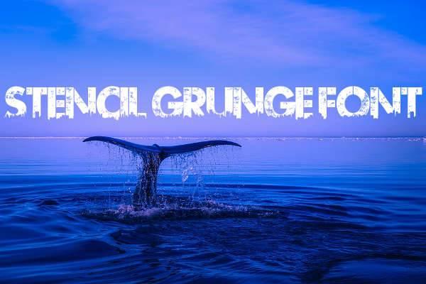 stencil grunge font