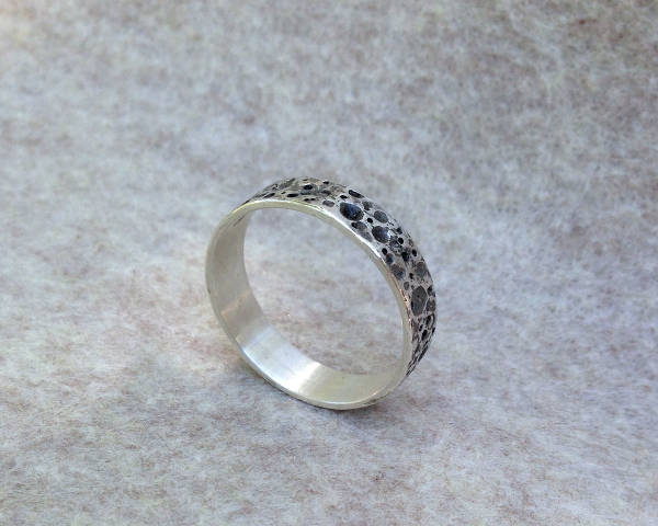 sterling silver wedding ring for men