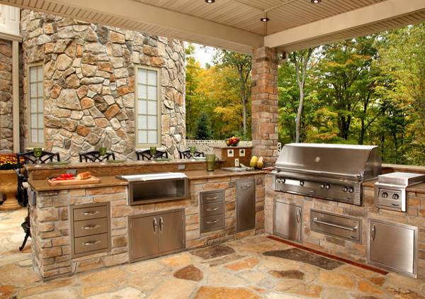 15+ Outdoor Kitchen Cabinet Designs, Ideas | Design Trends