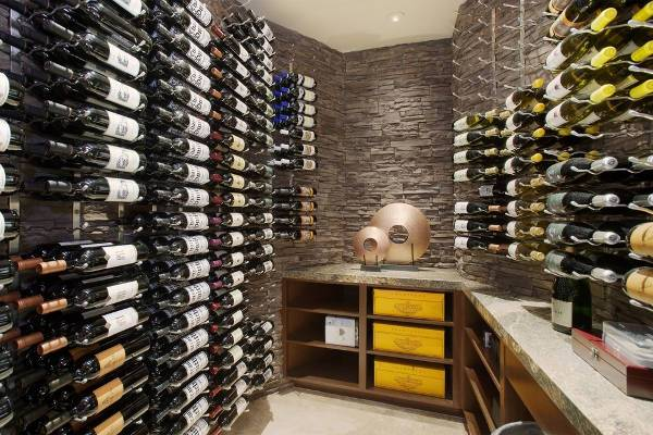 Stone Wall Wine Cellar Design