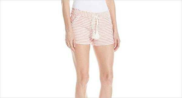 Striped Linen Short for Women