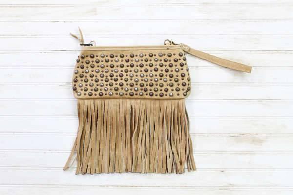 studded fringe handbag
