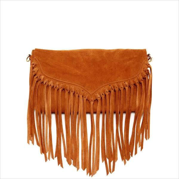 suede fringe crossbody handbag